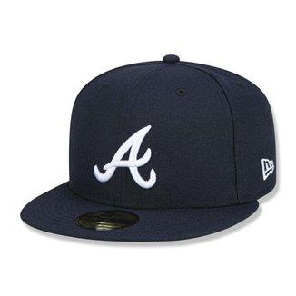 Boné New Era Atlanta Braves 5950 Game Cap Fechado