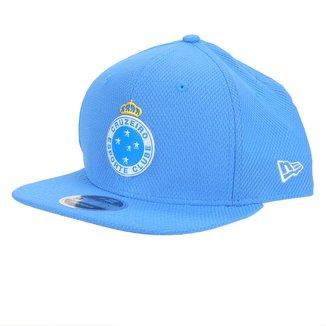 Boné New Era Cruzeiro Aba Reta Snapback Diamond Original Fit 9Fifty