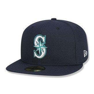 Boné New Era   Fechado 5950 Seattle Mariners Game Cap
