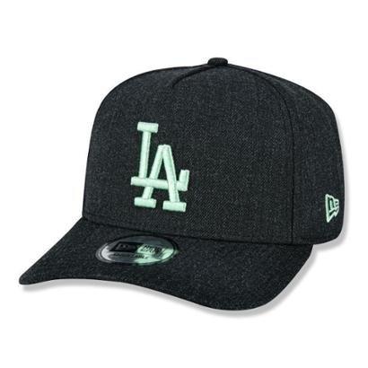 Bone New Era Los Angeles Dodgers 940 A Frame Heather Pop