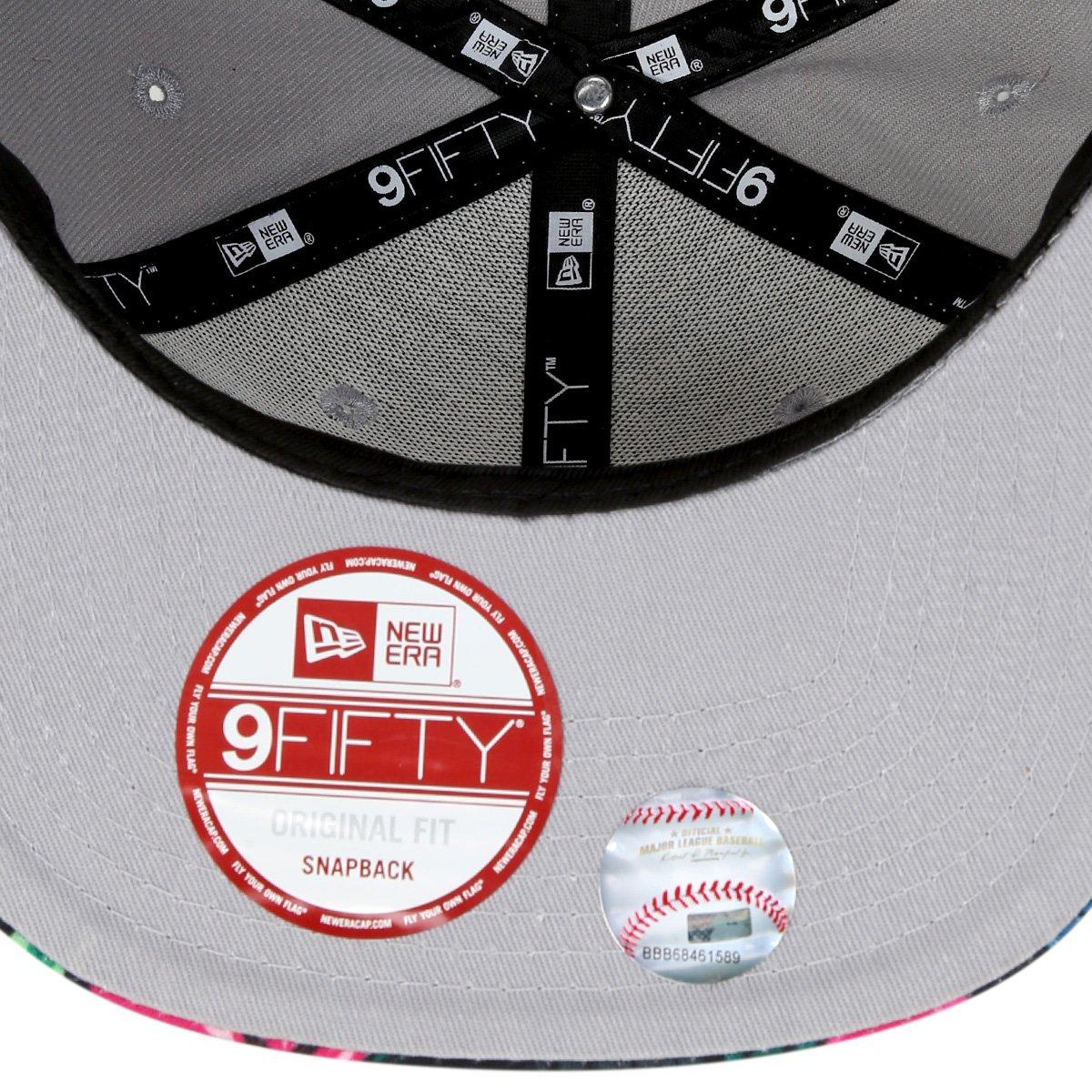 Boné New Era MLB 950 Of Sn Gray Black Floral New York Yankees ... 85bfa76aaef