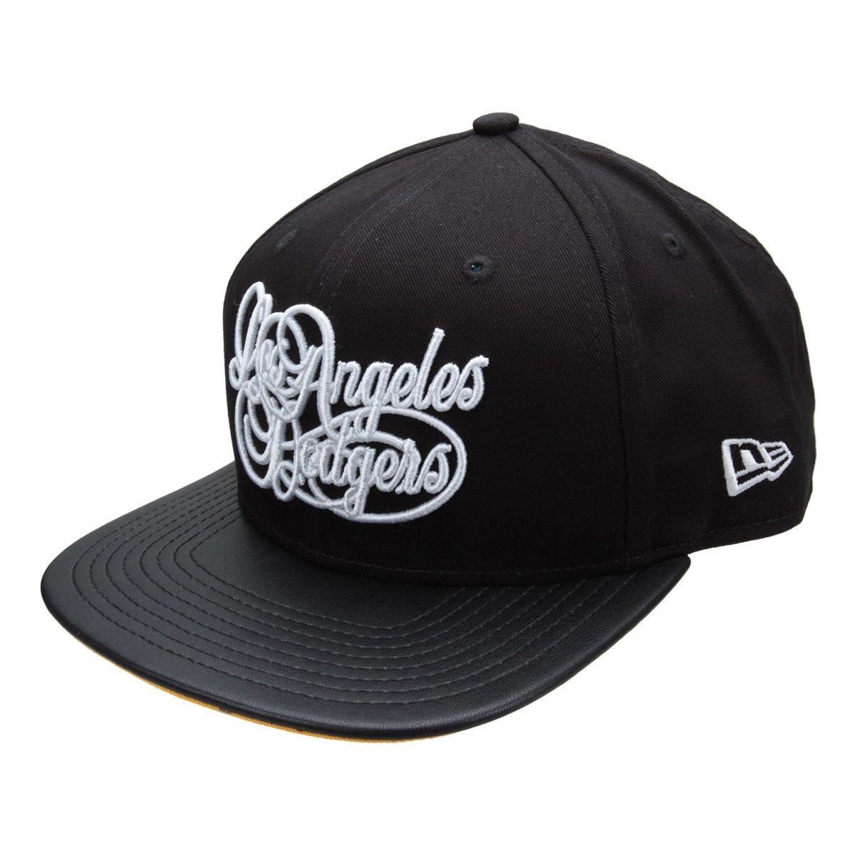aa569f9ff0cc2 Boné New Era MLB Los Angeles Dodgers Aba Reta 950 Of Sn Scrit - Preto -  Compre Agora