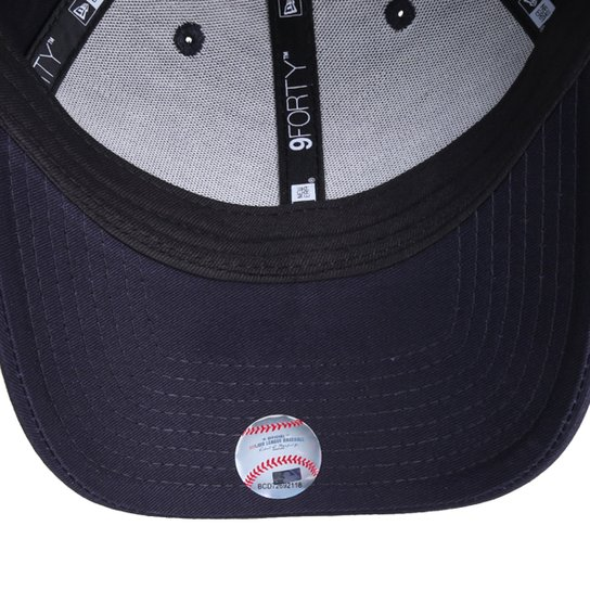 Boné New Era MLB New York Yankees Aba Curva Snapback 940 Mini Logo - Marinho
