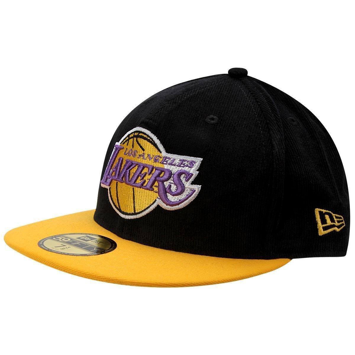 Boné New Era NBA 5950 Team Cord Los Angeles Lakers - Compre Agora ... c84fbe515fc
