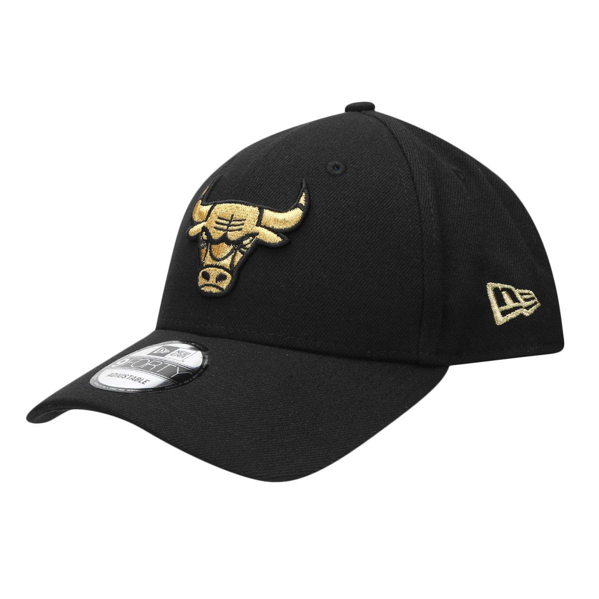 f4529e16f3bef Boné New Era NBA 940 St Gold On Black Chicago Bulls - Compre Agora ...