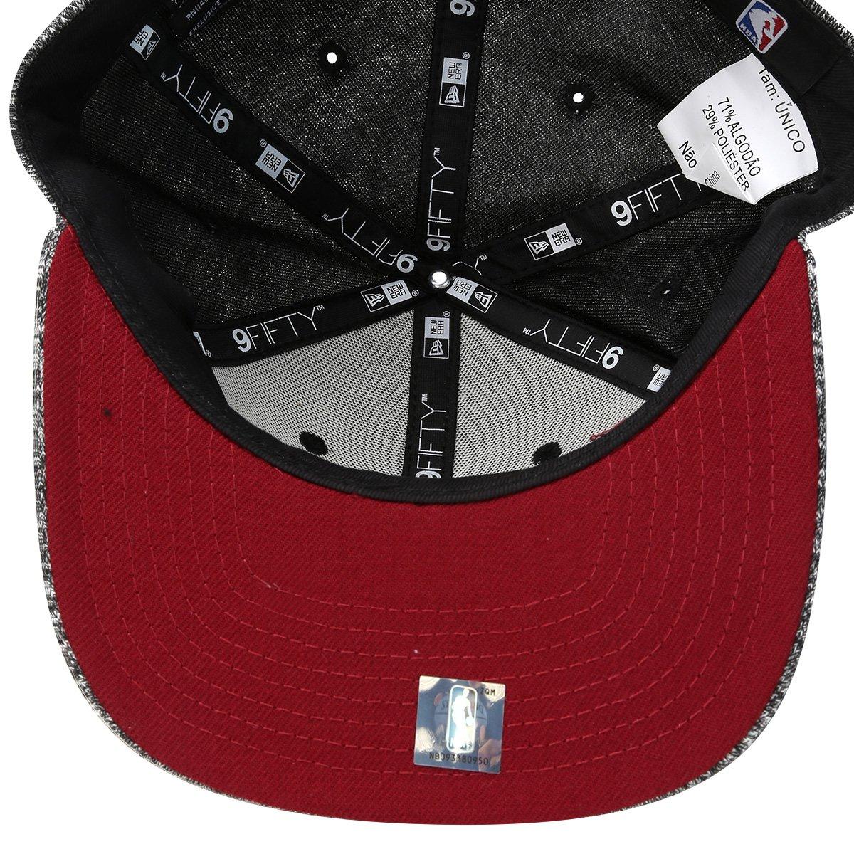 Boné New Era NBA 950 Of Sn Miami Heat Black French Terry - Compre ... 0c69bc982e5