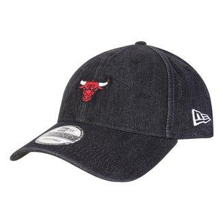 Boné New Era NBA Chicago Bulls Denin Logo Aba Curva