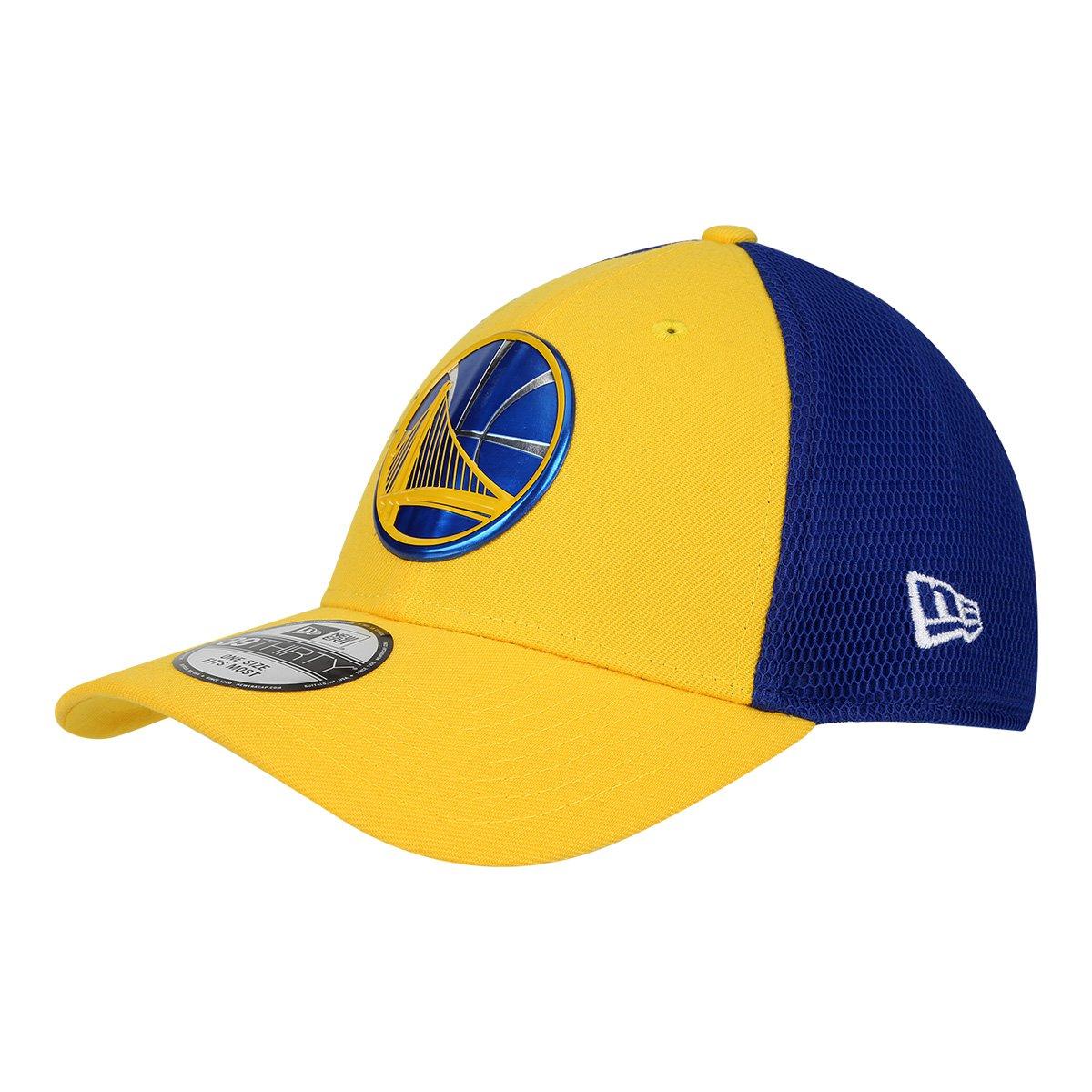 Boné New Era NBA Golden State Warriors Aba Curva 3930 17 Onc 2 Masculino -  Amarelo e Azul - Compre Agora  fc909a00811