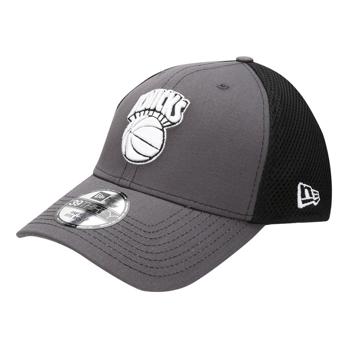 Boné New Era NBA New York Knicks Aba Curva 3930 Neo - Cinza e Preto ... 8594e112ded