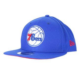 Boné New Era NBA Philadelphia 76ers Aba Reta Snapback 9Fifty Of Sn Primary