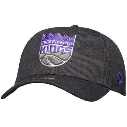 Boné New Era NBA Sacramento Kings 940 Chumbo e Roxo