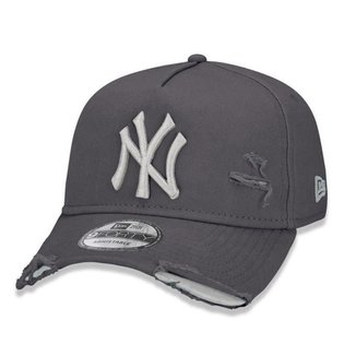 Boné New Era New York Yankees 940 A-Frame Damage Destroyed Aba Curva