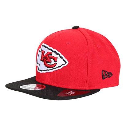 Boné New Era NFL Kansas City Chiefs Aba Reta Snapback 950