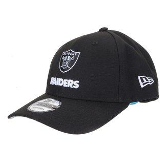 Boné New Era NFL Las Vegas Raiders Aba Curva Snapback Military Clean 9Forty