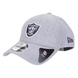 Boné New Era NFL Las Vegas Raiders Aba Curva Strapback College Logo 9Forty