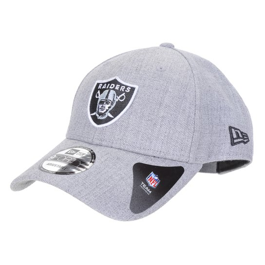 Boné New Era NFL Las Vegas Raiders Aba Curva Strapback College Logo 9Forty - Mescla