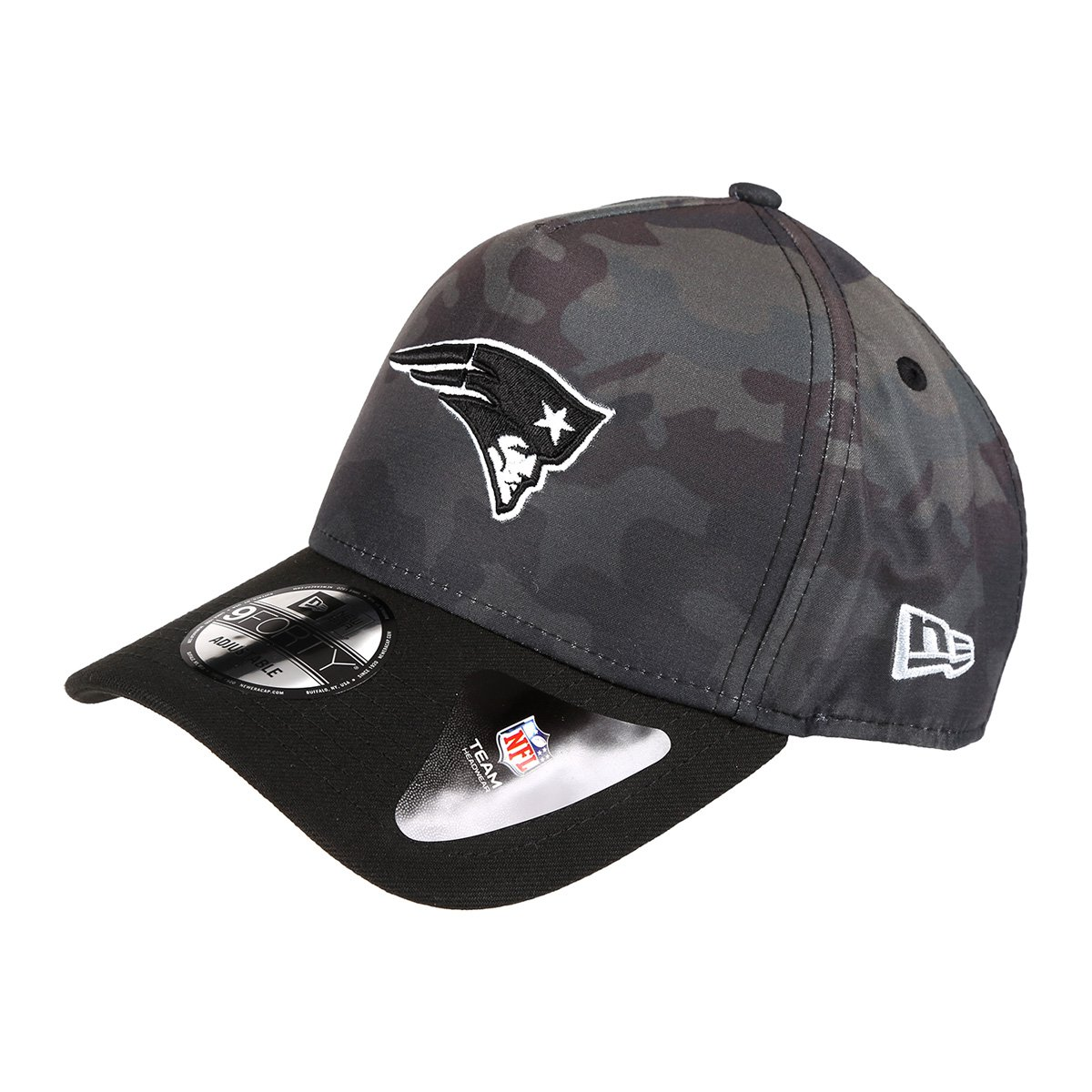 Boné New Era NFL New England Patriots Aba Curva 940 Af Sn Camo - Verde  Militar - Compre Agora  1247baa7f68