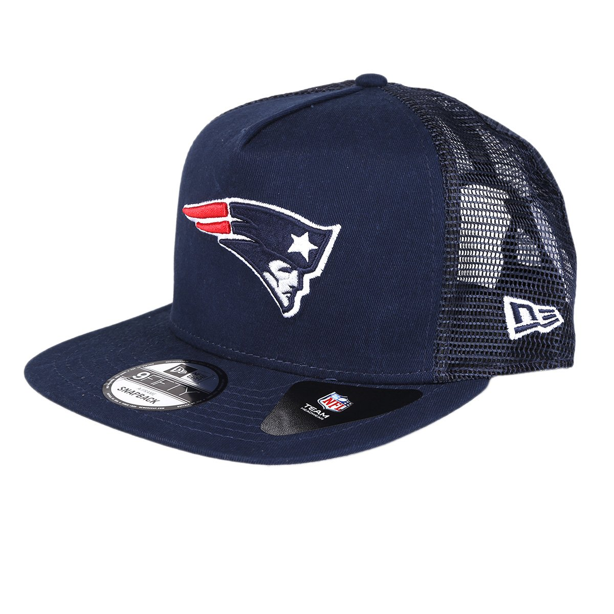 Boné New Era NFL New England Patriots Aba Reta 950 Af Sn Team Washed -  Compre Agora  362ba813cb9