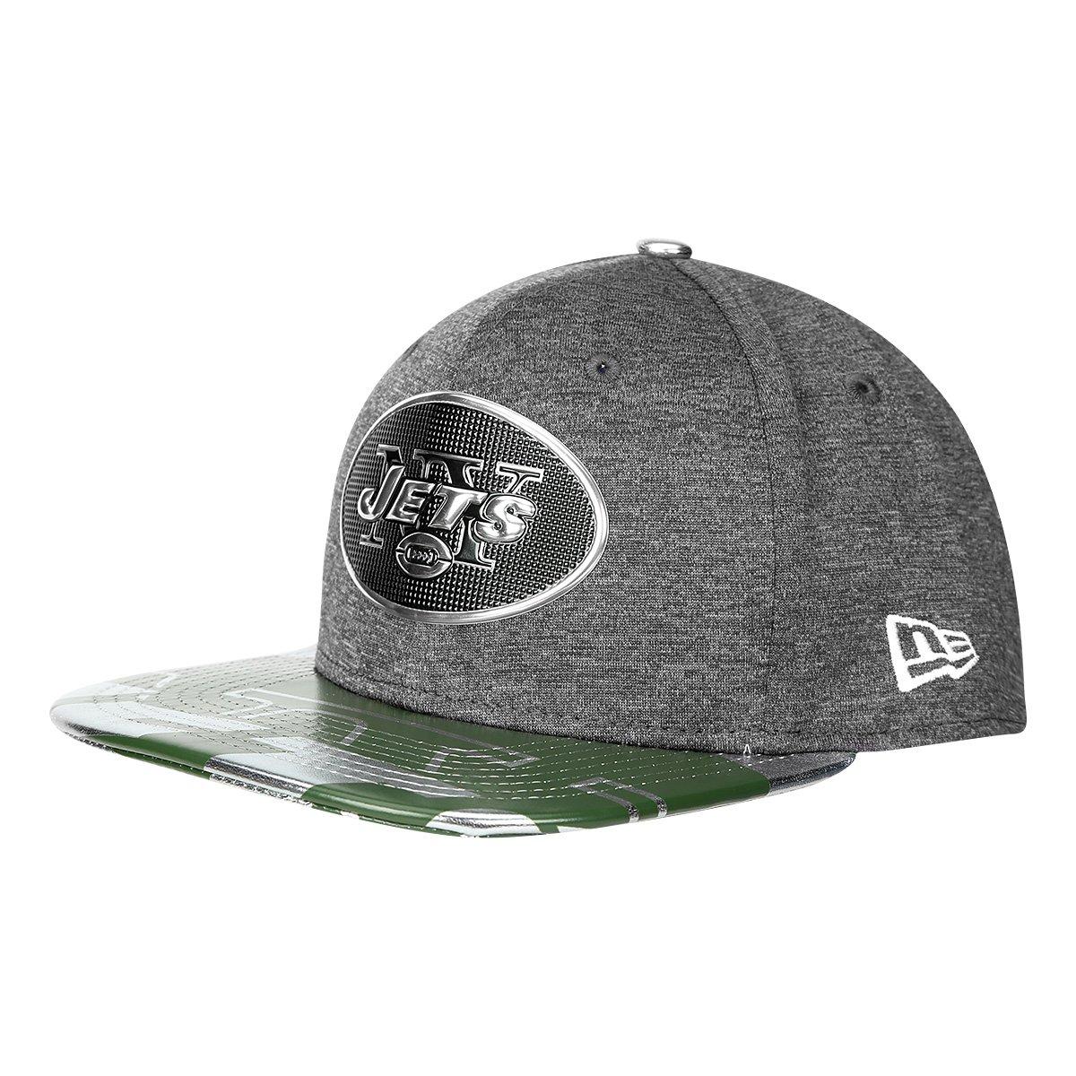 0d90bb914f396 Boné New Era NFL New York Jets Aba Reta 950 Original Fit Sn Spotlight  Masculino - Cinza e Verde - Compre Agora