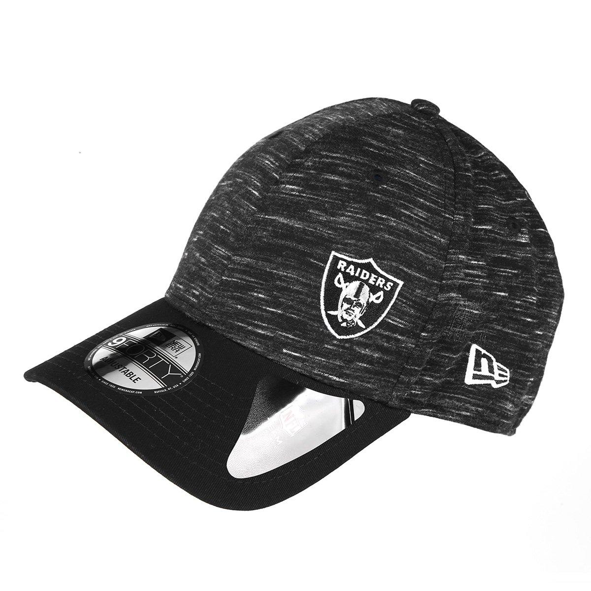 9e60cc268f Boné New Era NFL Oakland Raiders Aba Curva 940 Hp Sn Flame Mini - Preto -  Compre Agora