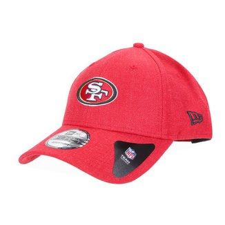 Boné New Era NFL San Francisco 49ers Aba Curva Strapback College Logo 9Forty