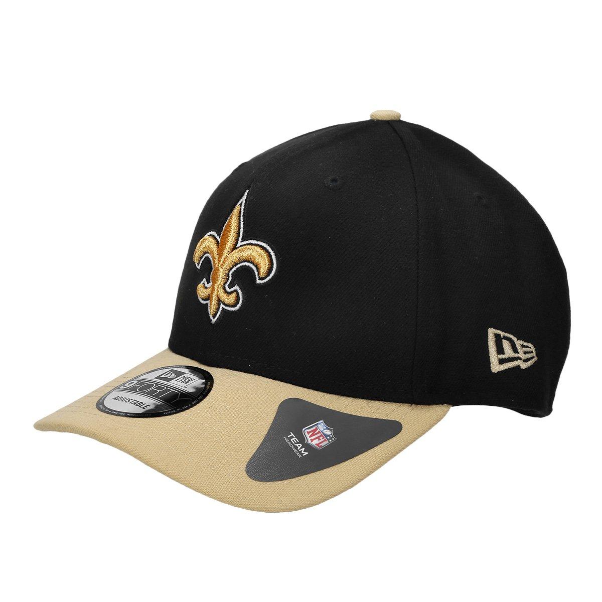 Boné New Orleans Saints New Era Aba Curva NFL 940 Hc Sn Basic - Preto e  Bege - Compre Agora  1c59ac449cc