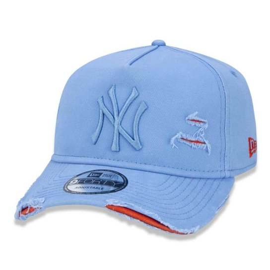 Boné New York New Era Yankees 940 Damage Destroyed - Azul