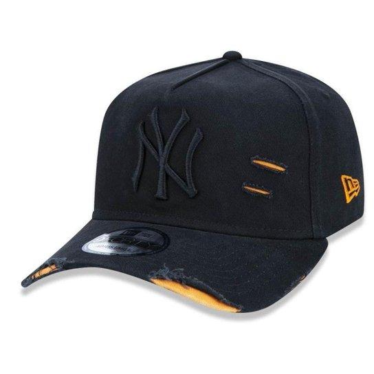 Boné New York Yankees 940 Cotton Damage Destroyed - Preto