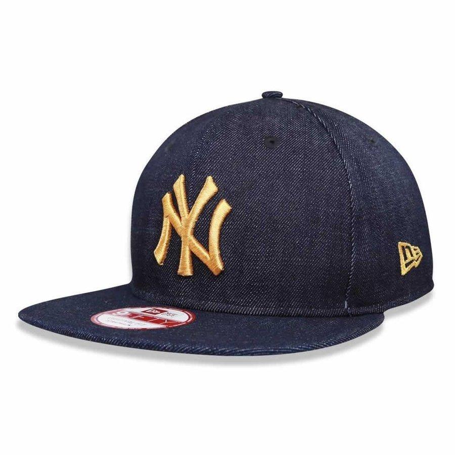 Boné New York Yankees Strapback Jeans Logo Gold MLB - New Era - Azul - Compre  Agora  ab2fb413310