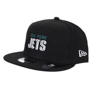Boné NFL New York Jets New Era Aba Reta Snapback Draft Font 950 Blk