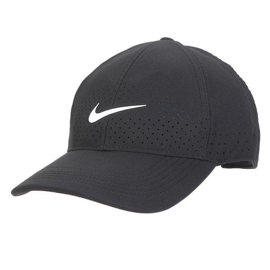 Boné Nike Aba Curva Arobill L91 Cap - Preto+Branco