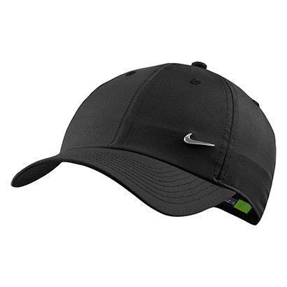 Boné Nike Aba Curva H86 Metal Swoosh - Preto - Compre Agora  b871c685ef2