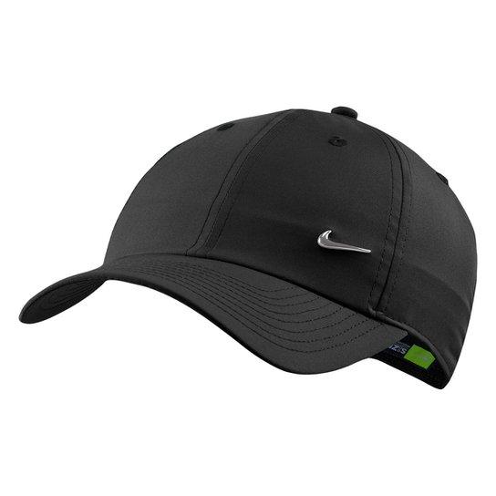 Boné Nike Aba Curva H86 Metal Swoosh - Preto