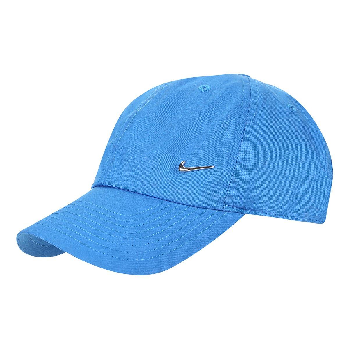 Boné Nike Aba Curva H86 Metal Swoosh - Azul - Compre Agora  ffbd44f5ad5