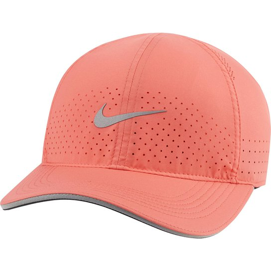 Boné Nike Aba Curva Strapback Aerobill Featherligth - Coral
