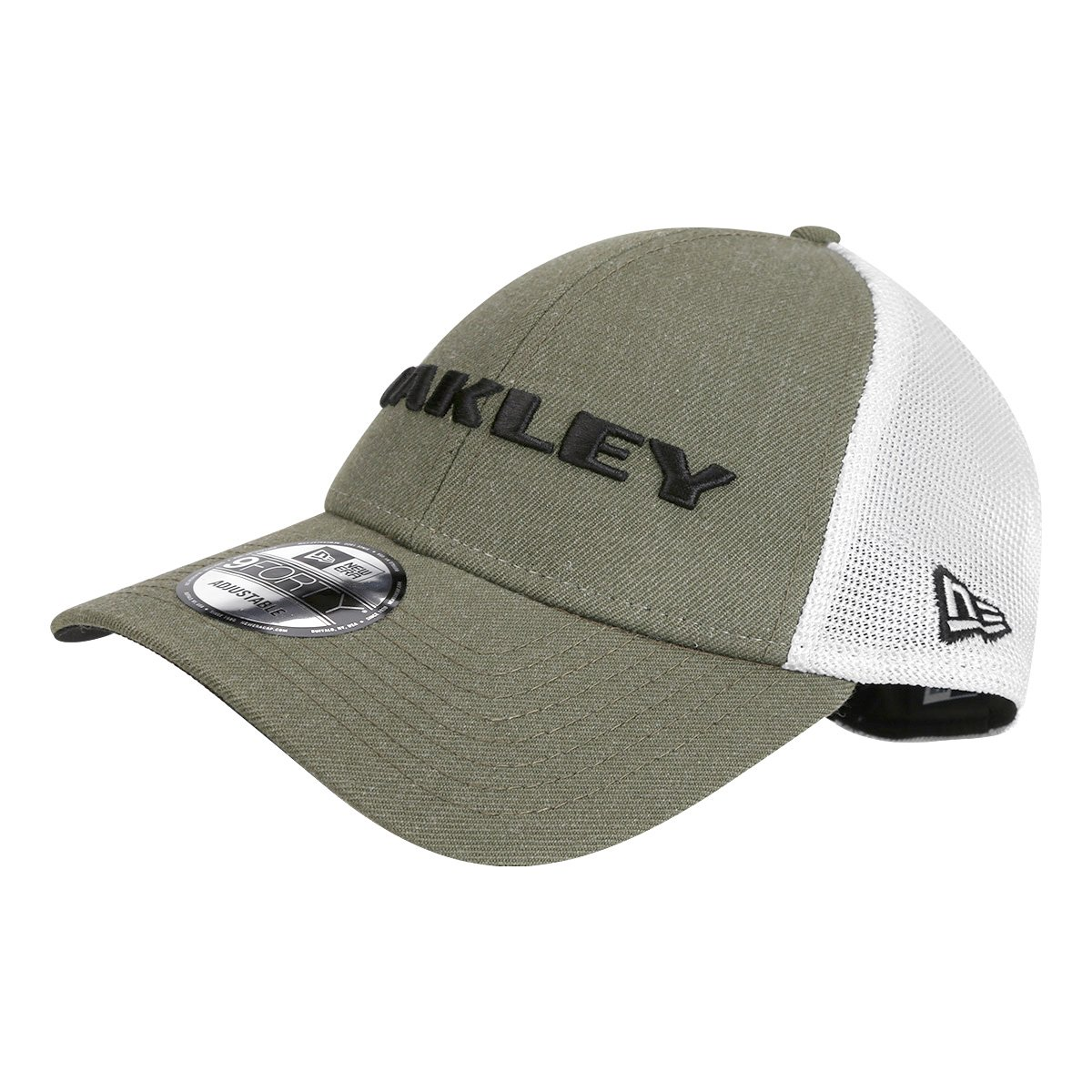 Boné Oakley Aba Curva Mod Heather New Era Masculino - Musgo e Branco - Compre  Agora  4ed9c0a3b64