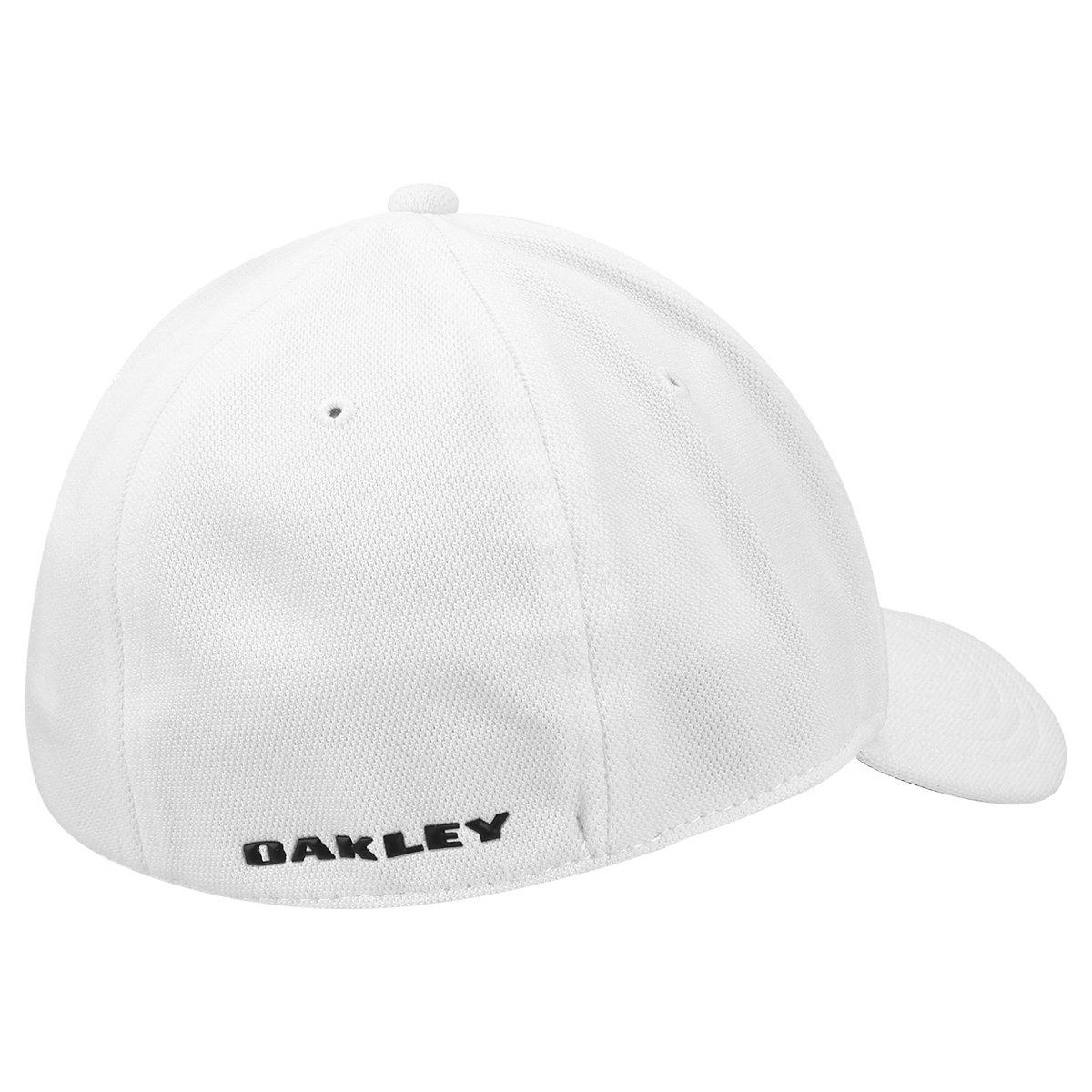 Boné Oakley Aba Curva Mod Silicon Ellipse Masculino - Branco ... fb2ef5ed3533a