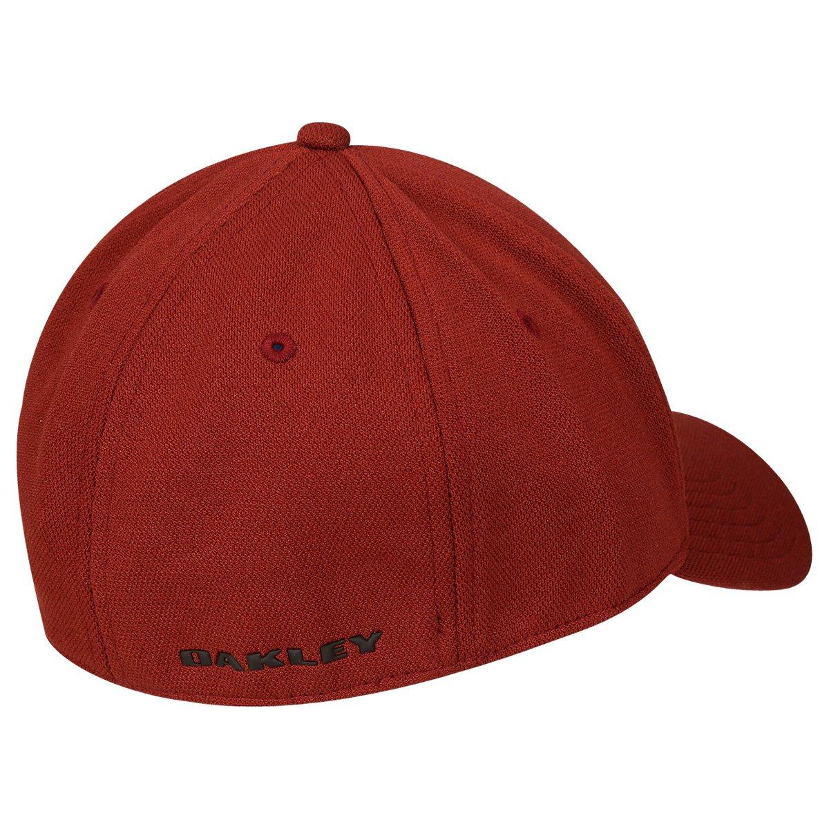Boné Oakley Aba Curva Mod Silicon Ellipse Masculino - Vermelho e ... ae98875b775