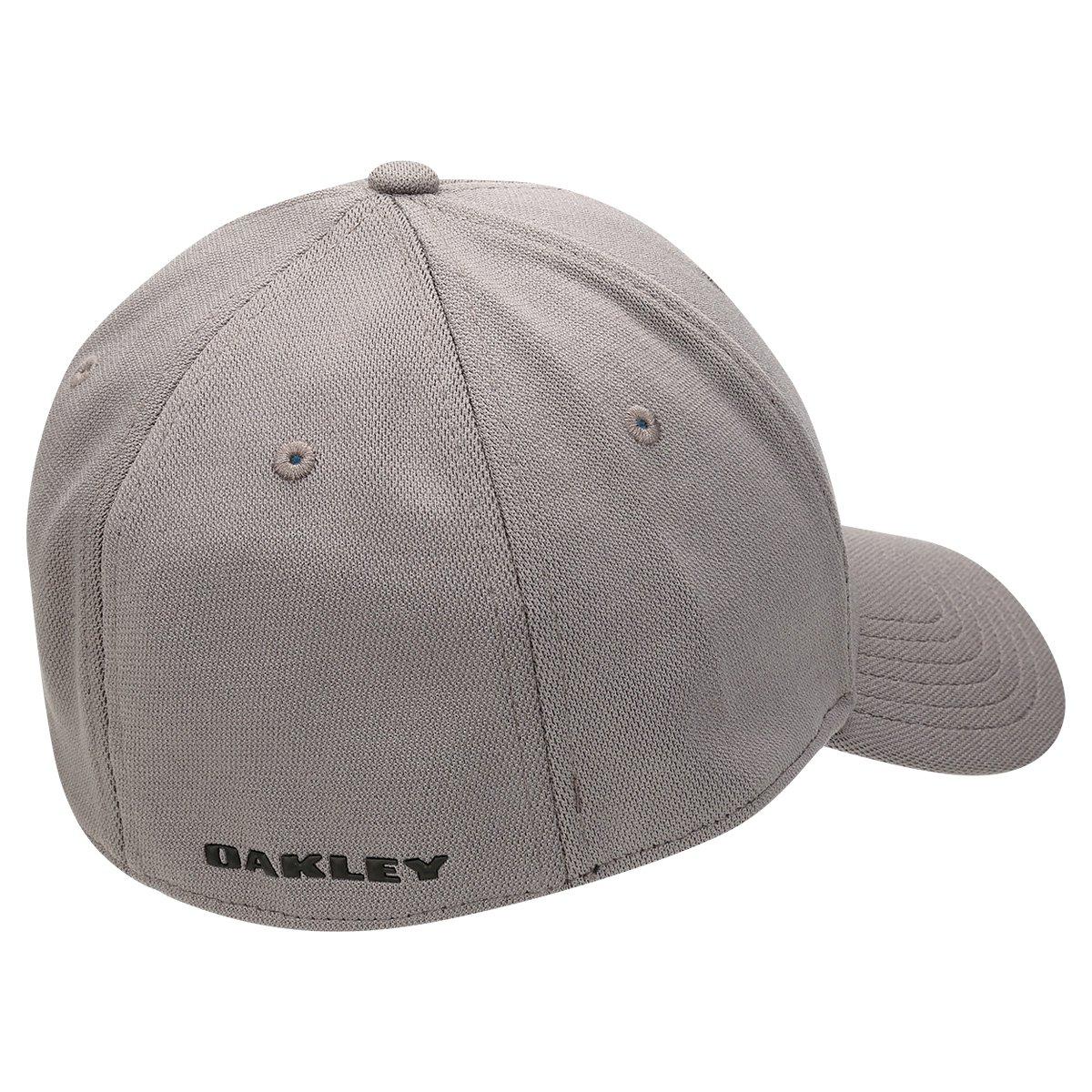 Boné Oakley Aba Curva Mod Silicon Ellipse Masculino - Grafite ... 1a897e5b3e49a