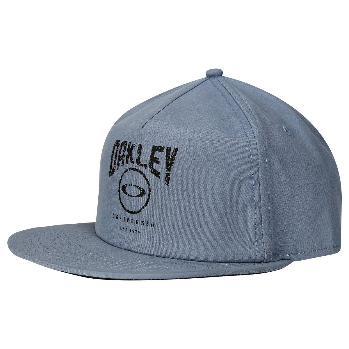 Boné Oakley Aba Reta Mod Foundation Cap Masculino - Azul e Preto ... e89abd91801