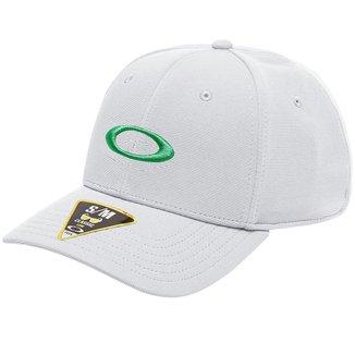 Boné Oakley Tincan Remix Branco com Logo Verde