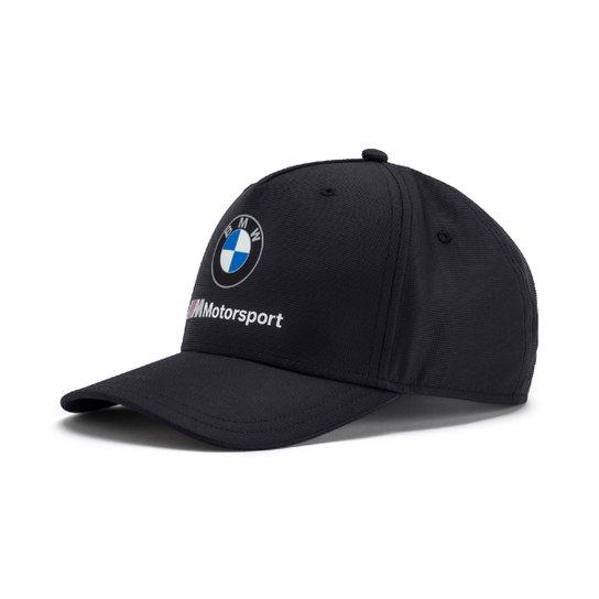 Boné Puma BMW Aba Curva MSP Masculino - Preto