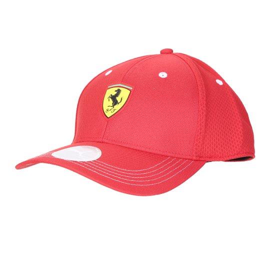Boné Puma Ferrari Aba Curva Fanwear - Vermelho