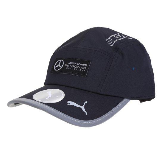 Boné Puma Mercedes Motorsports Aba Curva Strapback - Preto