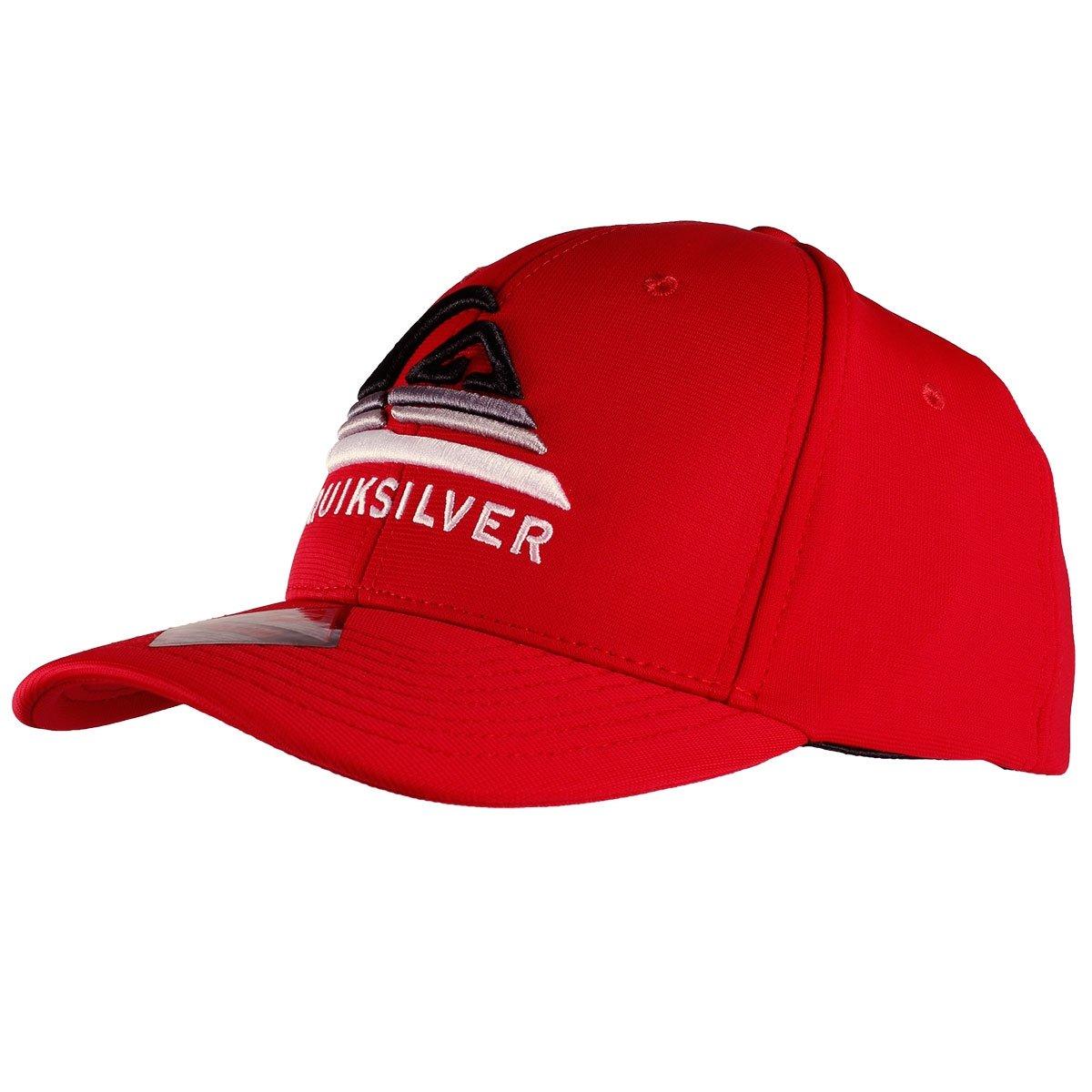 Boné Quiksilver Curved Peak Devided Logo Vermelho - Compre Agora ... b82209bbd73