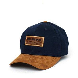Boné RAM Laramie Patch Logo - Azul Marinho