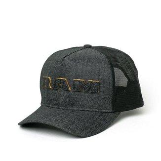 Boné RAM Trucker Glitter Lettering - Black Jeans