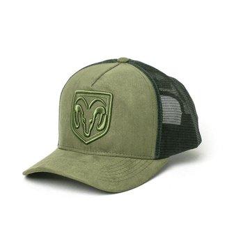 Boné RAM Trucker Logo Bordado - Verde Musgo