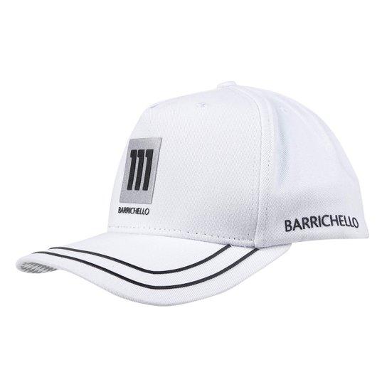 Boné RB111 Aba Curva Strapback Rubens Barrichello Flag - Branco