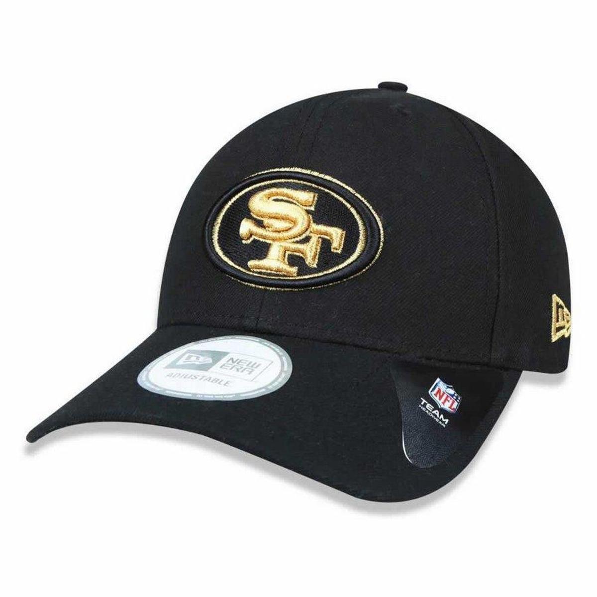 Boné San Francisco 49ers Snapback Gold on Black - New Era - Compre ... 93ee1c64189